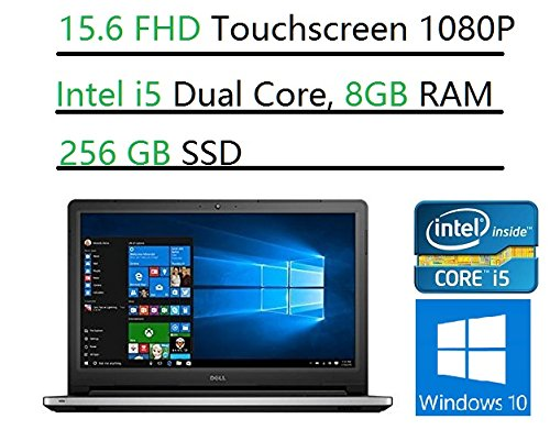 2017-Newest-Dell-Inspiron-156-FHD-Touchscreen-Laptop-Intel-Core-i5-6200U-8-GB-RAM-256GB-SSD-DVD-Backlit-keyboard-HDMI-Bluetooth-80211ac-RealSense-3D-Webcam-Win10-MaxxAudio-Pro
