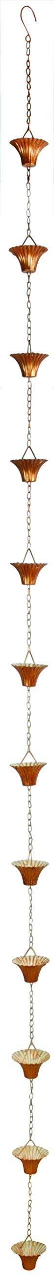 Esschert Design TH87 Series Copper Plated Rain Chain