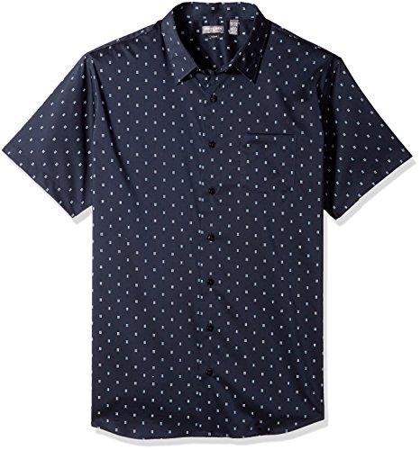 Van Heusen Men's Flex Stretch Short Sleeve Non Iron Shirt, Deep Blue Underground, 4X-Large Tall from Van Heusen