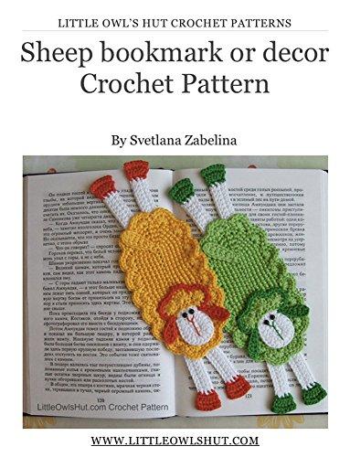 Sheep bookmark Crochet Pattern Amigurumi (LittleOwlsHut) (Crochet bookmark Book 13) (Crochet Bookmarks)