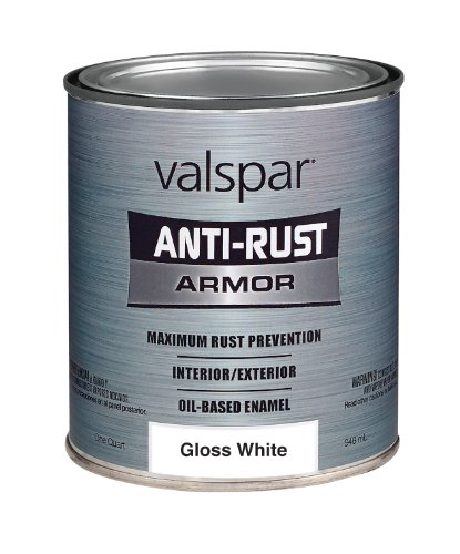 Valspar (21800Q-4PK) Gloss White Enamel - 1 Quart, (Pack of 4)