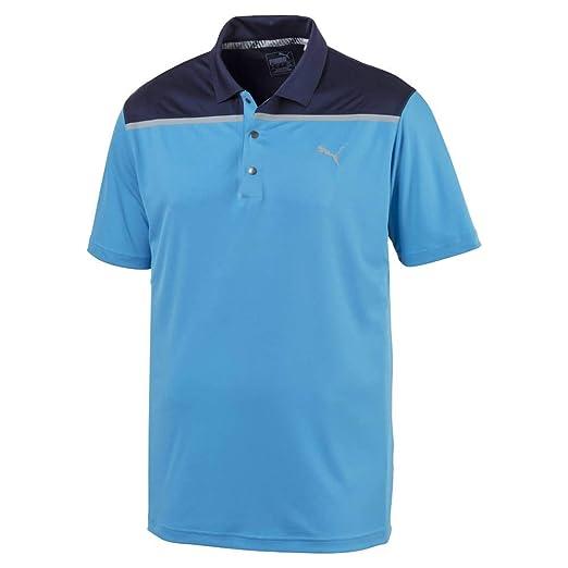 102834ce Amazon.com : PUMA Golf Men's 2019 Bonded Colorblock Polo : Clothing