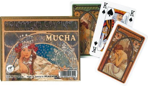 Mucha: Hyacinta - Double Deck Playing