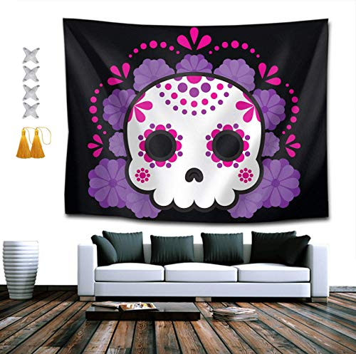 Tapestry Mandala Hippie Bohemian Tapestries Wall Hanging Nightmare Before Christmas Skull Tapestry Wall Hanging Indian Dorm Decor 60 x 80 -