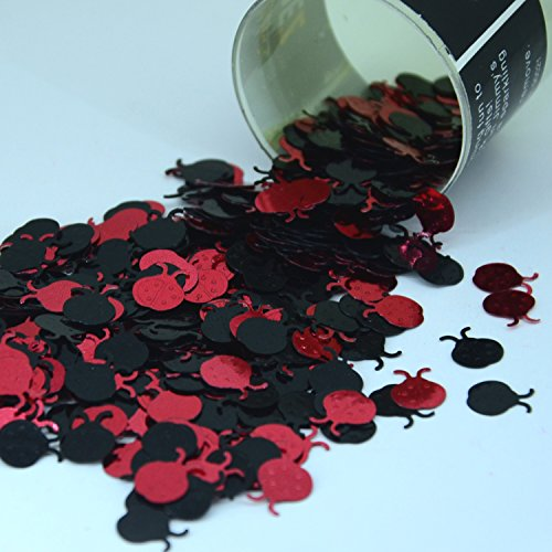 Confetti Lady Bug Black, Red Mix - Retail Pack #9140 - Free Ship