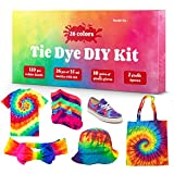 DIY Tie Dye Kits, 26 Colors Fabric Dye Kit for Kids, Adults and Groups, Non-Toxic Tie Dye Supplies for Party, Gathering, Festival, User-Friendly, Add Water Only Perfect for Thanksgiving Christmas (Color: 26 Colors)