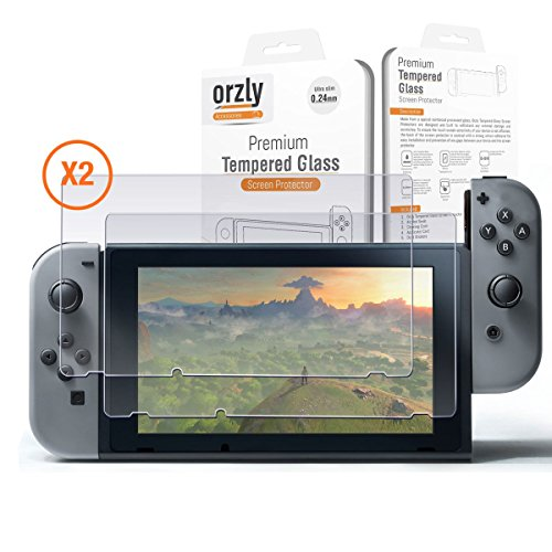 Nintendo Switch Screen Protector TWIN PACK by Orzly - Transparent Computer Screen