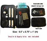 Chill Pack Diabetic/Medication Cooler Travel Case for Insulin Pen/Syringes, 8 oz. Ice Pack, Black