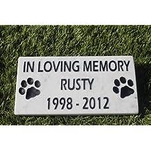 Sandblast Engraved Marble Pet Memorial Headstone Grave Marker Dog Cat ilm 4x8