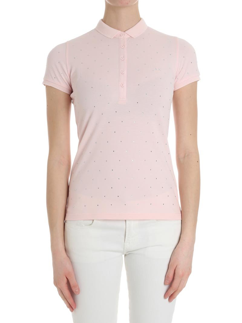 SUN 68 Women's A1820404 Pink Cotton Polo Shirt