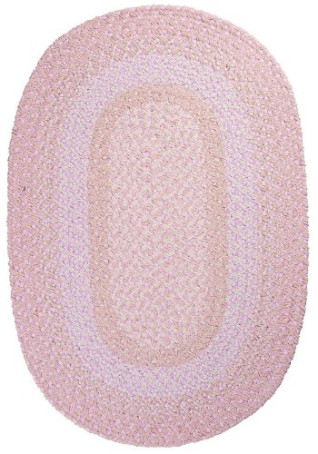 Braided 3'x5' Oval Area Rug in Lavender Blush color from Enclave Collection