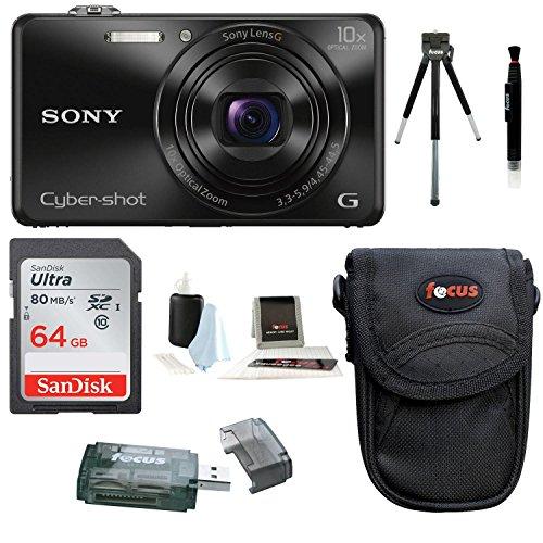 Sony Cyber-shot DSC-WX220 18.2 MP Digital Camera Bundles (Premium Bundle)