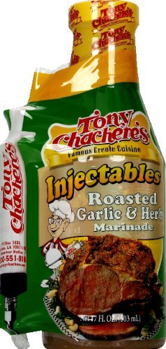 Tony Chachere's Marinade Roasted Garlic & Herb W/ Injector, 17 oz, 2 (Creole Garlic Marinade)