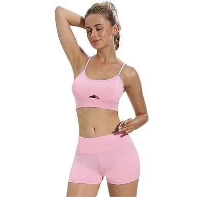 Amazon.com: Ropa de yoga sexy para mujer con eslinga para ...