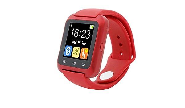 Lacaca U80 Smartwatch inteligente Podómetro sano Reloj Bluetooth para iPhone y Android LG Samsung: Amazon.es: Relojes