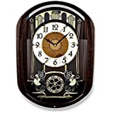Seiko Melody in Motion Wall Clock (52.8 cm x 38.9 cm x 11.9 cm, Brown, QXM297BT)