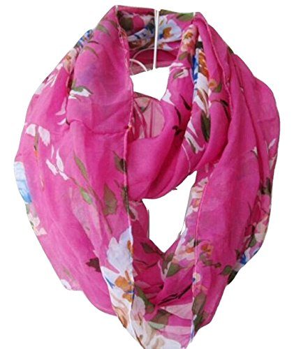 Tapp C. Multicolor Floral Print Infinity Scarf - Purple