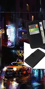 JackGot ( Nueva York Yellow Cab ) Sony Xperia Z2 D6502 la tarjeta de Crédito Slots PU Funda de cuero Monedero caso cubierta de piel