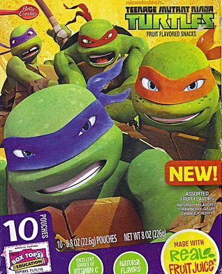 Betty Crocker Teenage Mutant Ninja Turtles Fruit Snacks