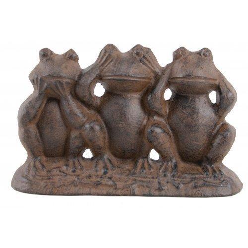 Hear No Evil See No Evil Speak No Evil Cast Iron Frogs