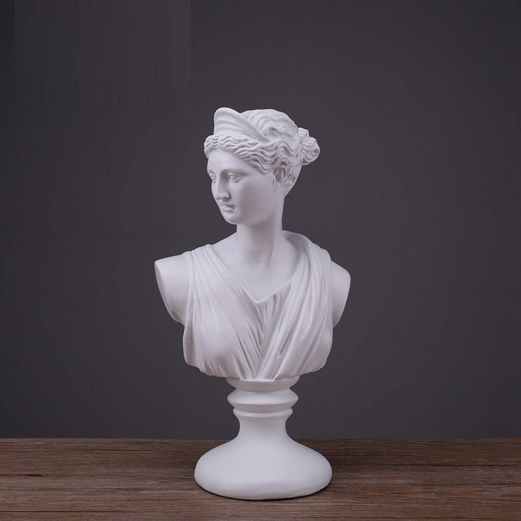 JDSHSO Diana Apollo Bust Sculptural Gift Classical Greek Bust Statue Greek Mythology Home Desktop Decor by JDSHSO