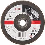 Disco FlapDisc Reto Para Metal 180x22 Grão 120 - 2.608.607.333 - BOSCH