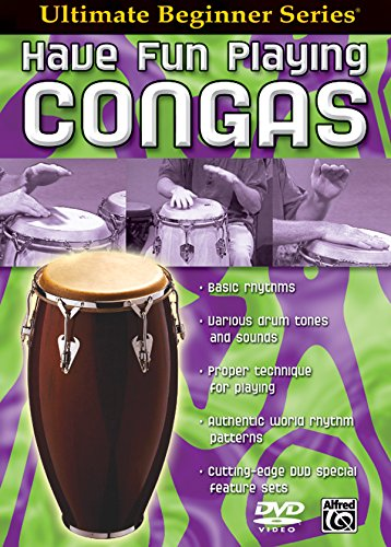Ultimate Beginner Have Fun Playing Hand Drums: Congas, Steps One & Two (DVD) (Series Congas)