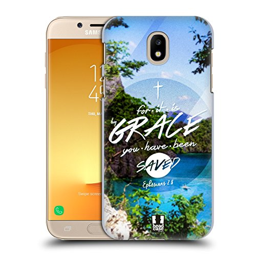 Head Case Designs Grace Christian Typography Series 3 Hard Back Case Compatible for Samsung Galaxy J7 2017 / Pro