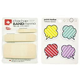 Wrapables Sticky Notes, Band Aid and Talking Bubble, Set of 2