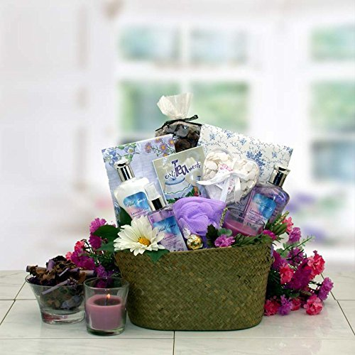 Healing Spa Pampering Bath and Body Gift Basket for Her -Mothers Day Gift Idea for Women by Organic Stores, Inc.
