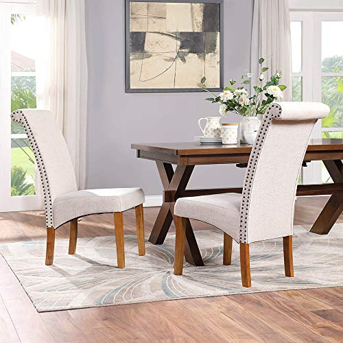Romatlink Set Of 2 Linen Fabric Dining Chair