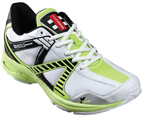 Gray-Nicolls , Herren Cricketschuhe Mehrfarbig White/Black/Green