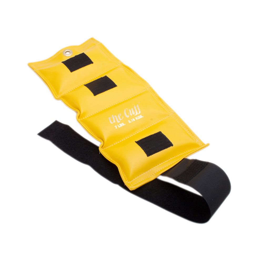The Deluxe Cuff Ankle and Wrist Weight - 7 lb - Lemon