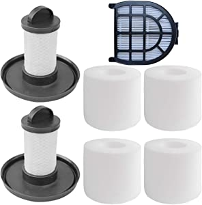 HEPA Filter,Foam & Felt Filter Support Kit Compatible with Shark LZ600,LZ601,LZ602,LZ602C APEX Vacuums.Compare to Part # XFFLZ600 & XHFFC600. (Combo Pack)
