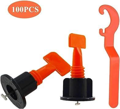 Raogoodcx 100 St/ück Bodenbelag Wand Fliesen Nivelliersystem Kunststoff Clip Verstellbar Locator Spacer Zange Level Wedges Handwerkzeuge Wiederverwendbare Fliesen Nivelliersystem Kit