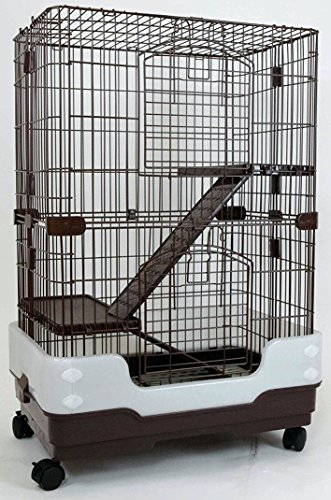 dreamhome-heavy-duty-chinchilla-cage-with-urine-guard-3-story-24x17x38-brown