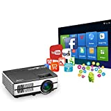 Wireless Mini Projector LED LCD- 1500 Lumens 1080P Multimedia for Home Theater Cinema Movie Video Games Outdoor Party including Built-in Speaker, Keystone, HDMI, USB, VGA, 3.5mm Audio jack, Remote