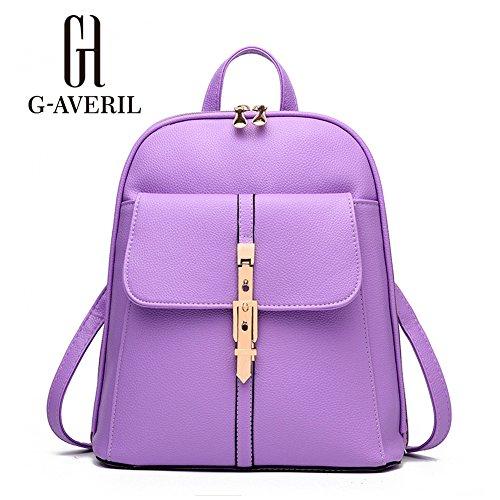 G-AVERIL GA1065-P - Bolso mochila  para mujer rosa rosa morado