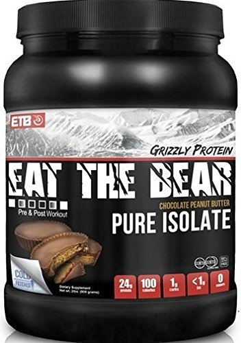 ETB Eat The Bear Grizzly Protein, Chocolate Peanut Butter, 2 Pound
