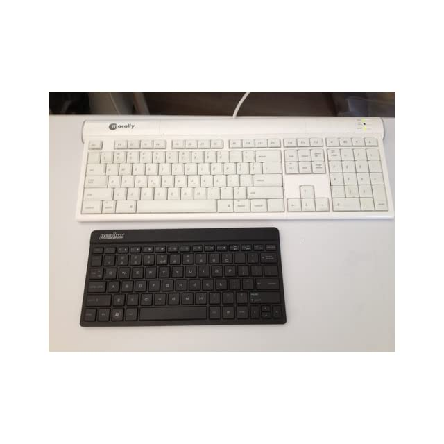 Perixx PERIBOARD 804, Wireless Bluetooth Keyboard   Black   10x5 Portable Size   Ultrathin 1/4 Design   Compatible with Android & Windows OS   Silent X Type Scissor Keys   On/Off Switch   US English Layout
