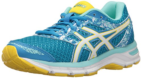 ASICS Women's Gel-Excite 4 Running Shoe, Diva Blue/White/Sun, 6 M US