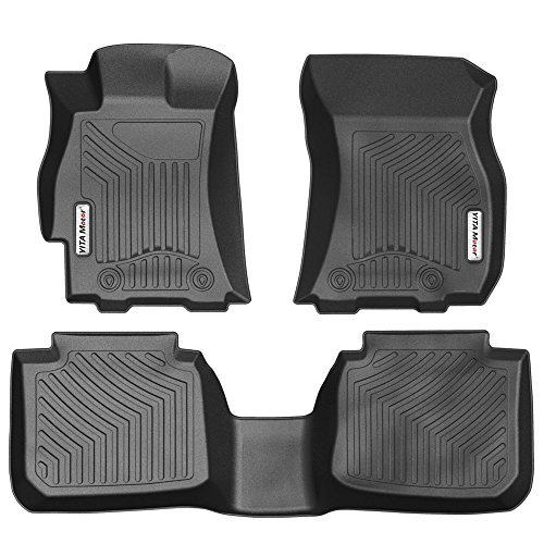 d Seat Floor Mats Floorliners Compatible for 2015-2018 Subaru Legacy/Outback, Black ()