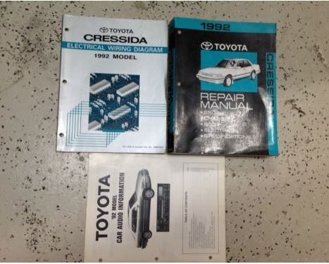 (1992 Toyota Cressida Service Shop Repair Manual Set W EWD W Car Audio Book WATER)