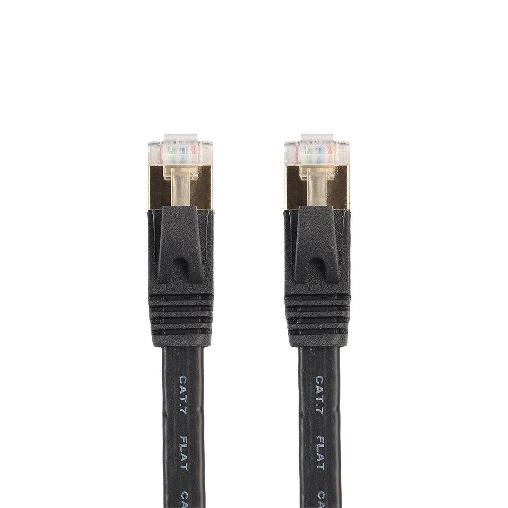 Ethernet Kable, VILICONTY CAT7 Netzwerkkabel Flach Flach Flach LAN Pacth Kable STP VerGoldet RJ45 (40M, Schwarz) B0764F9R75 | Speichern  2b60c7