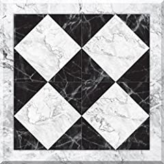 This marble design is a classic staple in home décor and that's why FloorAdorn by Con-Tact Brand Marble Harlequin is the perfect product to easily spruce up your floor's look! Its elegant style is great for kitchens, laundry rooms, or 'ruggin...