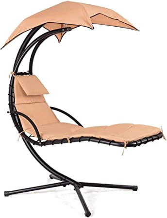 Amazon Com Ezone Outdoor Hanging Hammock Chair Lounge Swing