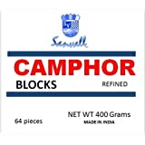 Box of Camphor 16 Blocks - 64 Tablets Premium High Quality Refined Camphor Sanvall - No Residue - Bed Bug - Tool Tarnish