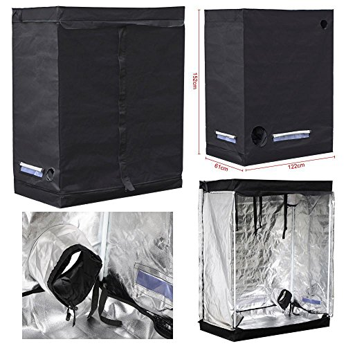 """51W2ALdxkcL - Yaheetech 48""""X24""""X60"""" Reflective Indoor Grow Tent Kit Complete Hydroponic Non Toxic Grow Hut Box"""