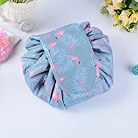 Makeup Bag Drawstring Portable Travel, Small Cosmetic Bag Magic Makeup Pouch Toiletry Bags Makeup Storage Organizer Perfect for Women Girls - Gray/Moltres