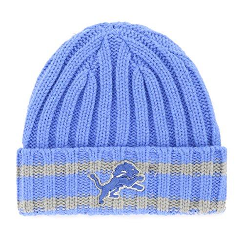 NFL Detroit Lions Adult NFL Bure Ots Cuff Knit Cap, One Size, Blue Raz ()